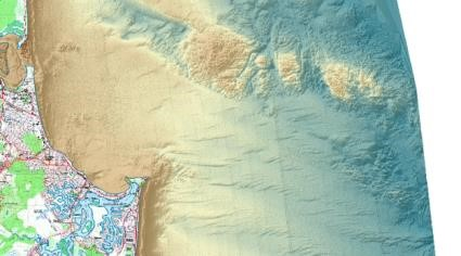 Bathymetric LiDAR for Sunshine Coast. Image by Queensland Government