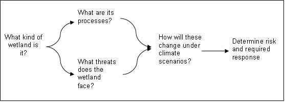 Process to understand the impact of climate change on wetlands. By Queensland Wetlands Program 2012